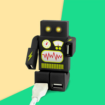 英國 Mustard USB HUB - 機器人(黑)