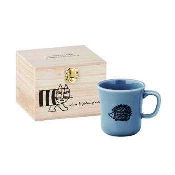 日本進口Lisa Larson聯名陶瓷馬克杯(含木盒)-刺蝟