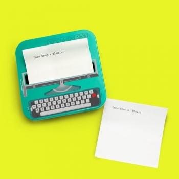 英國 Mustard 趣味便利貼 - 復古打字機