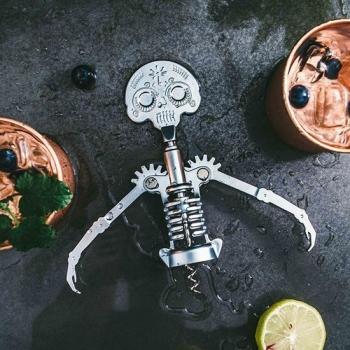 KIKKERLAND 美式骷髏人紅酒開瓶器