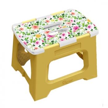 Vigar 32cm 折疊板凳 上部 香檸檬圖樣 (L)