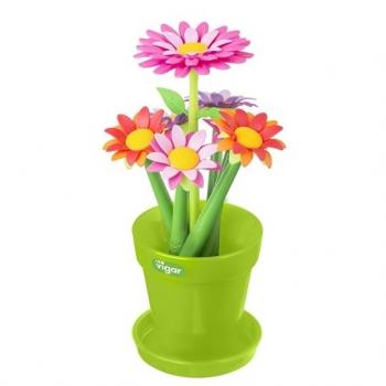 VIGAR 繽紛花花筆組 6入含花盆