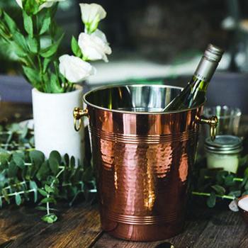美國 ALCHEMADE 復古紅銅冰桶 (搥目)