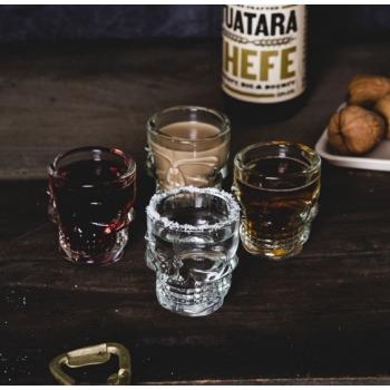 KIKKERLAND 骷髏頭玻璃shot杯四件組