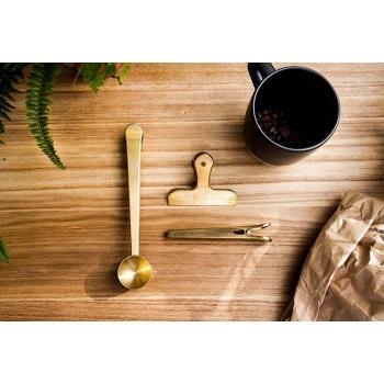 KIKKERLAND 銅色咖啡夾舀匙三件組