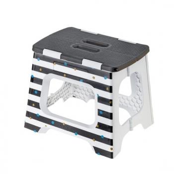 Vigar 27cm 折疊板凳 側邊 黑白條紋圖樣 (M)