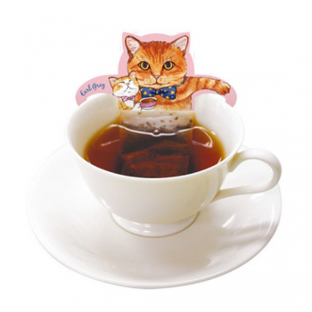 粉色貓咪杯緣子茶包 - 伯爵茶