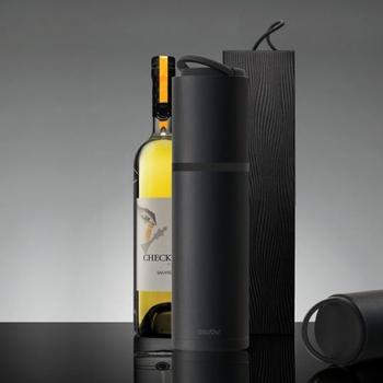 ASOBU 便攜式葡萄酒保冷瓶 黑色