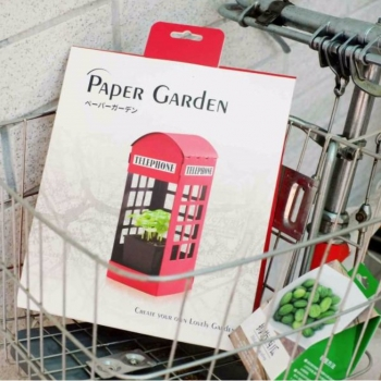 Paper Garden 療癒系LED植物燈優惠組--英倫風+拇指西瓜栽培組