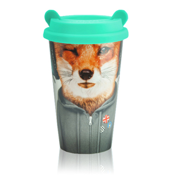 英國Mustard  雙層隔熱陶瓷杯 - 狐狸飛行員