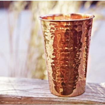 美國 ALCHEMADE 極簡線條紅銅水杯 (鎚目)