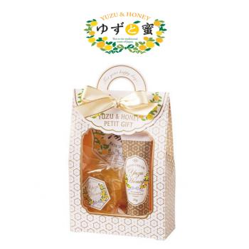 日本進口 柚子蜜沐浴禮盒組 - 粉色柚子蜜禮盒