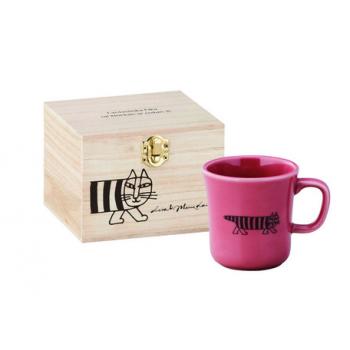 日本進口Lisa Larson聯名陶瓷馬克杯(含木盒)-麥基