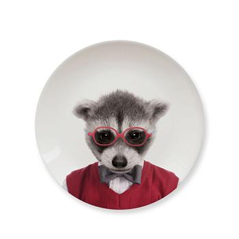 英國 Mustard 動物餐盤 7 吋 - 浣熊