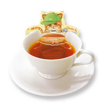 黃色貓咪杯緣子茶包 - 南非博士茶