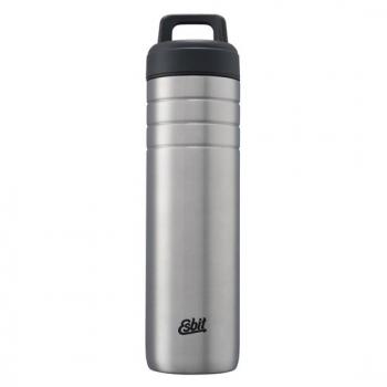 Esbit 鋼硬系列廣口不鏽鋼真空瓶700ml - 銀