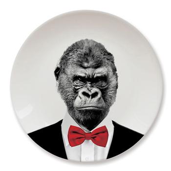 英國 Mustard 動物餐盤 9 吋 - 猩猩