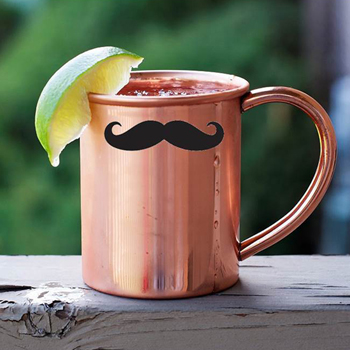 美國 ALCHEMADE 極簡線條翹鬍子紅銅馬克杯 420ml