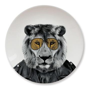 英國 Mustard 動物餐盤 9 吋 - 公獅