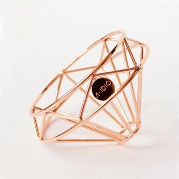 A-IDIO 鑽石咖啡濾杯-玫瑰金