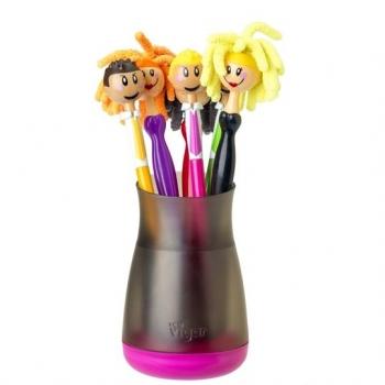 VIGAR 情侶娃娃筆6入組(含筆筒)