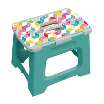 Vigar 32cm 折疊板凳 上部 正方體圖樣 (L)