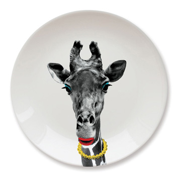 英國 Mustard 動物餐盤 9 吋 - 長頸鹿