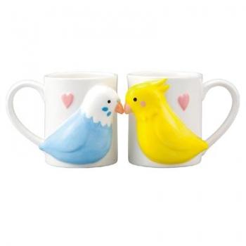日本 sunart 對杯 - 愛情鳥